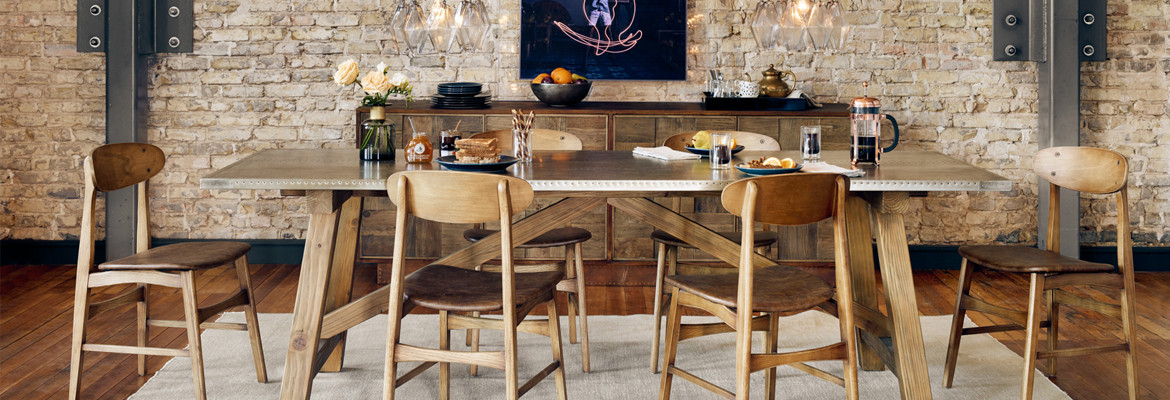 High-End Industrial Tables and Seating