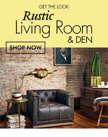 Rustic Living Room Den Den